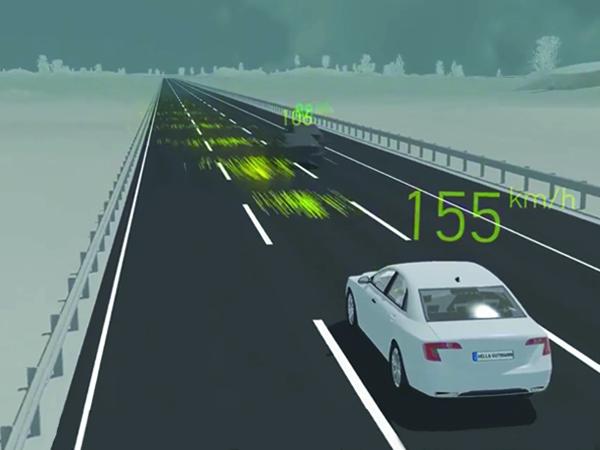 Radar régulateur de vitesse adaptatif