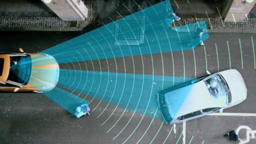 AEB radar et caméra pare-brise pour freinage d'urgence