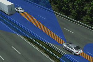 Radar régulateur de vitesse adaptatif non calibré